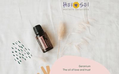 Geranium oil to balance, love and trust
